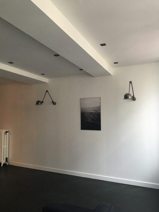 Peinture et installation d'eclairage tamisé et encastré
