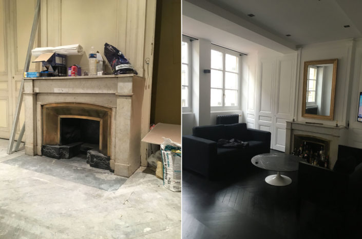 Exemple de réalisation Ki Dépann Rénovation appartement avant-après